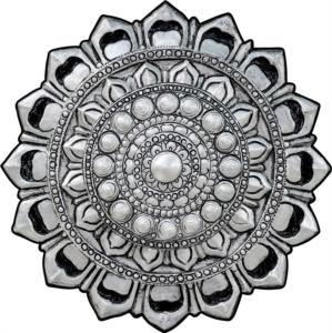 Sena Home Stil Dijital Baskılı Yuvarlak Halı 115 Gümüş