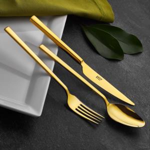 Avcı Klas Titanyum Gold Renk 24 Parça Çatal Kaşık Bıçak Takımı
