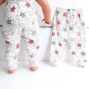 Yıldızlı Pembe Tek Alt Bebek Penye Pijama