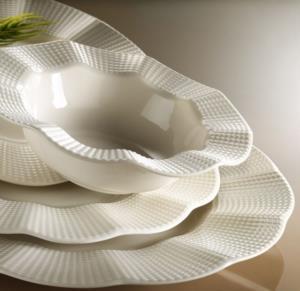Kütahya Porselen Milena 24 Parça Krem Yemek Seti