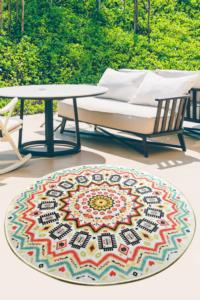 Chilai Home Mandala Color Balkon Halısı Djt Çap