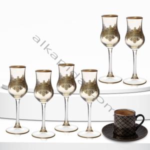 Çınar Kristal 6 Adet Ottoman Amber Bistro Kahve Yani Bardak