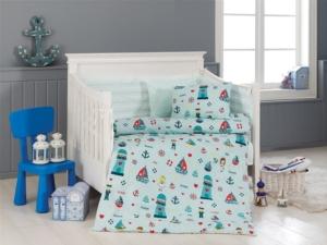 Belenay Bebek Nevresim Takımı - Küçük Denizci Mavi