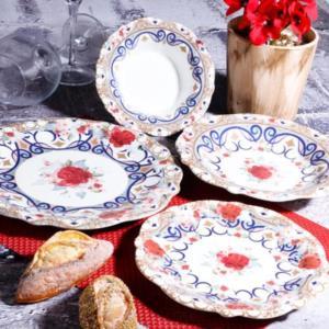 Kosova 24 Parça Porselen Yemek Takımı Fulya Fleur -402