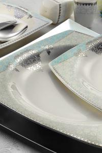 Kütahya Porselen Bone Mare 110 Parça 9678 Desenli Yemek Takımı