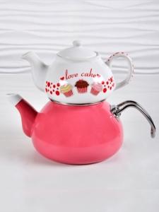 Keramika Fruit Cake Çaydanlık Seti