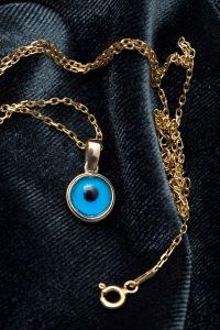 Nazarlık Model Altın Kaplama Gümüş Kolye