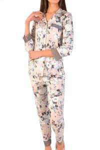 Nicoletta Kadın Pijama Takımı Cepli Düğmeli