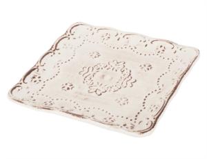 Tantitoni Seramik 6Lı Romance Kare Pasta Tabağı DERİN 601KTR