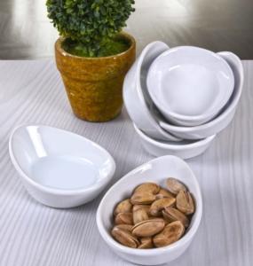 Keramika 6 Parça 8 Cm Beyaz Mini Gondol Çerezlik/Sosluk