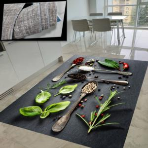 Milano Halı Kaymaz Tabanlı Yıkanabilir Mutfak Halısı HT-307