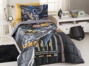 Özdilek Tek Kişilik Lisans Baskılı Uyku Seti Batman Yellow Sarı