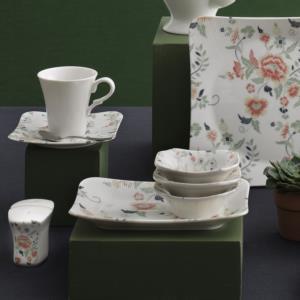 Güral Porselen 36 Parça Spinoza Bone Kahvaltı Takımı Reaktif 1142