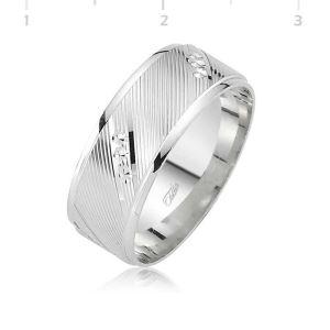 Rodyum Kaplama Klasik Gümüş Alyans