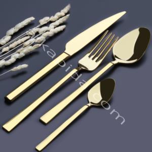 Özlife Hüma 90 Parça Gold Çatal Kaşık Bıçak Takımı (Sandıklı)- 350