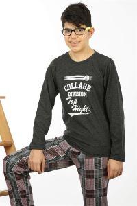 Akbeniz Çocuk Pamuk Uzun Kollu Pijama Takımı 4560