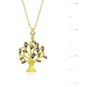 Gümüş Dilek Ağacı Bayan Kolye