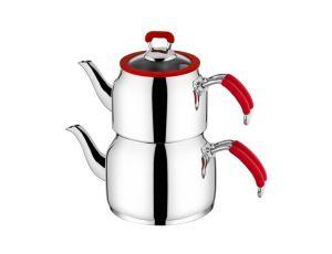 Taç Nesta Aile Boy Çaydanlık Kırmızı