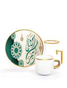 Damla Kulplu Asena Çay Kahve Seti 6+6  Ramadan Karem