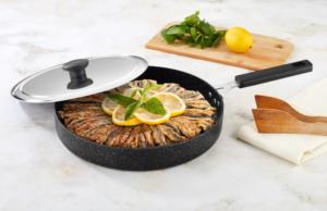 Falez BlackLine 30cm Granit Balık Tavası FLZ 3003