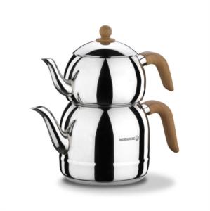 Korkmaz Retro Ahşap Çaydanlık Takımı A196