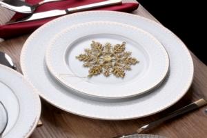 Sevenly 24 Parça Mega Serisi Gold Yuvarlak Yemek Takımı 5066