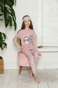 Akbeniz Çocuk Pamuk Kısa Kollu Pijama Takımı 4562