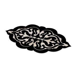Dekoreko Figürlü Özel Kesim Halı 108 Siyah