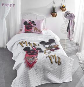 The Club Cotton Tek Kişilik Yatak Örtüsü Poppy