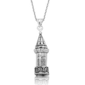Gümüş Minareli Cevşen Bayan Kolye