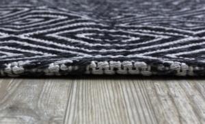Koza Halı Casa Cotton Siyah-Gri Kilim-21401A