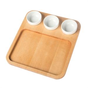 Joy Kitchen Pan Servis Tabağı - 3 Sosluklu UP00252