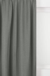 Belle Cose Keten Görünümlü 140x270cm Tek Kanat Açık Gri Fon Perde