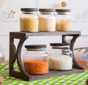 Joy Kitchen Shelfy 5Li Kavanoz Seti Oval Venge Renkli 3K2O UP00335