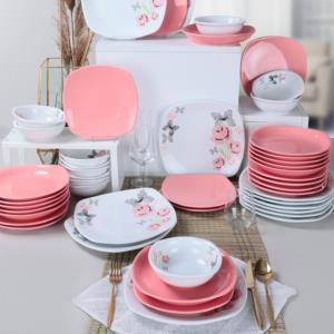 Keramika Gül Trend Yemek Takımı 48 Parça 12 Kişilik