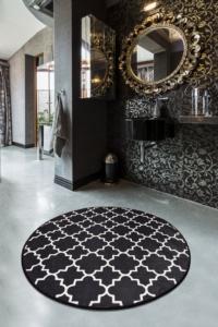 Chilai Home  Kupa Siyah Djt Çap 140 Cm Banyo Halısı