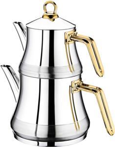 Oms Çelik Medium Çaydanlık Seti 8075-G