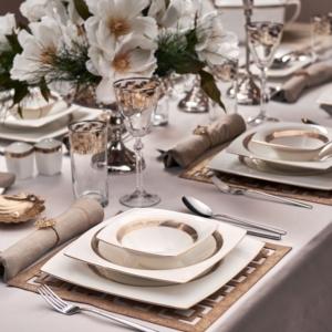 Karaca Fine Pearl Majesty 62 Parça 12 Kişilik İnci Yemek Takımı Kare
