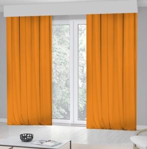 Kozzy Home Tek Kanat Orange Fon Perde -RFE0421