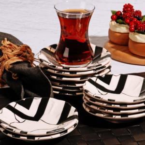 Kosova Black 12 Adet Çay Tabağı
