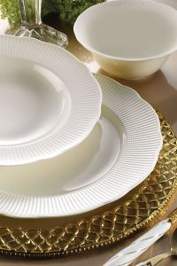 Kütahya Porselen Bone İlay 24 Parça Yemek Seti