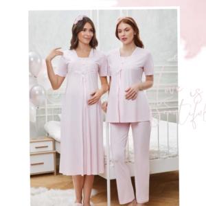 Flz Dowry 24-318 Bayan Pijama Takımı Ekru