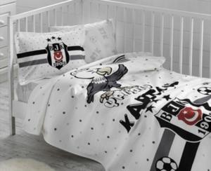 Taç 3576 Lisanslı Bebek Pike Takımı Beşiktaş 3 Yıldız Baby