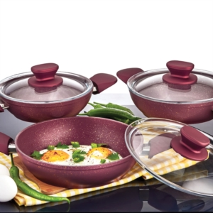 Özlife 6 Parça Hüma Kırmızı Omlet Set- 611