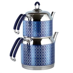 Özlife Hüma Mavi Orta Boy Çaydanlık 110-M