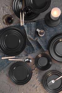 Kütahya Porselen New Tuvana 24 Parça Yemek Seti Antrasit