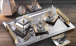 İslamoğlu 40 Parça Kulplu Petek Çay Seti Gold