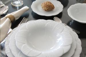 Porland Yaprak Beyaz 24 Parça 6 Kişilik Yemek Takımı 04POR033126