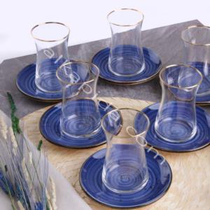Özlife 12 Parça Damla Safir Porselen Çay Seti- 927