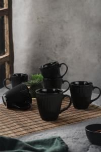 Keramika Siyah Myra Kupa 10 Cm 6 Adet